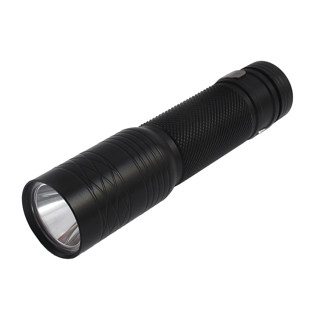 Black Aluminum Alloy Shell Battery Powered 2 Mode White LED Light Mimi Flashlight Torch