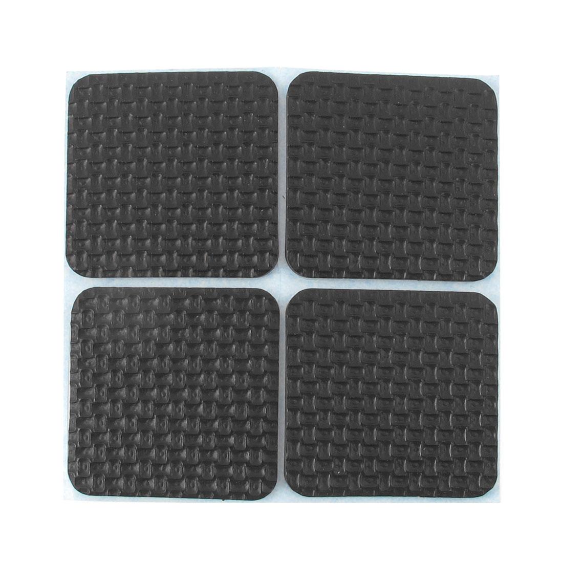 Self Adhesive Furniture Desk Table Leg Mat Cover Pad Floor Protector Black 4pcs