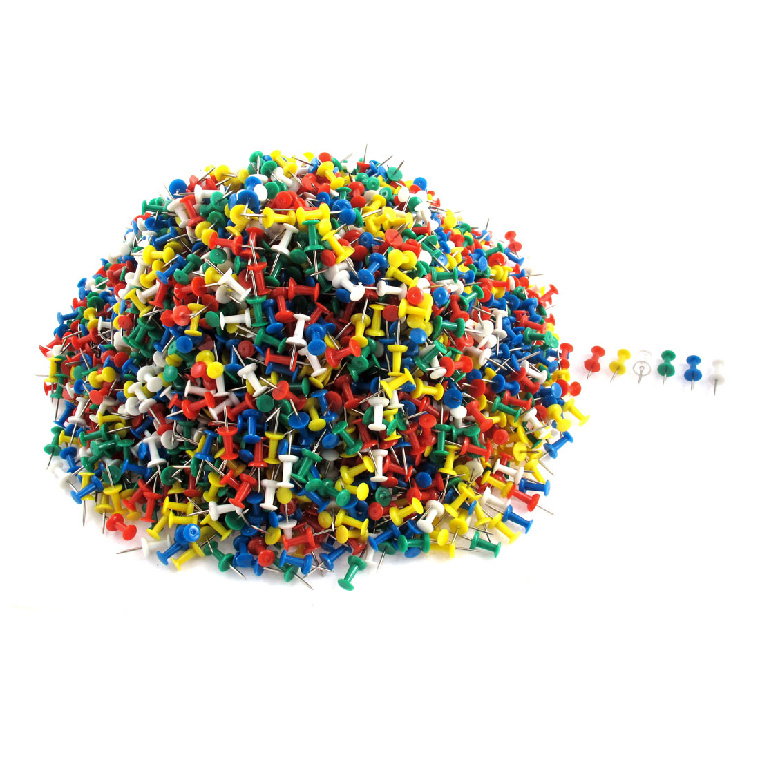 2600pcs Multicolor Plastic Head Metal Pushpins Map Label Drawing Pins Thumbtacks