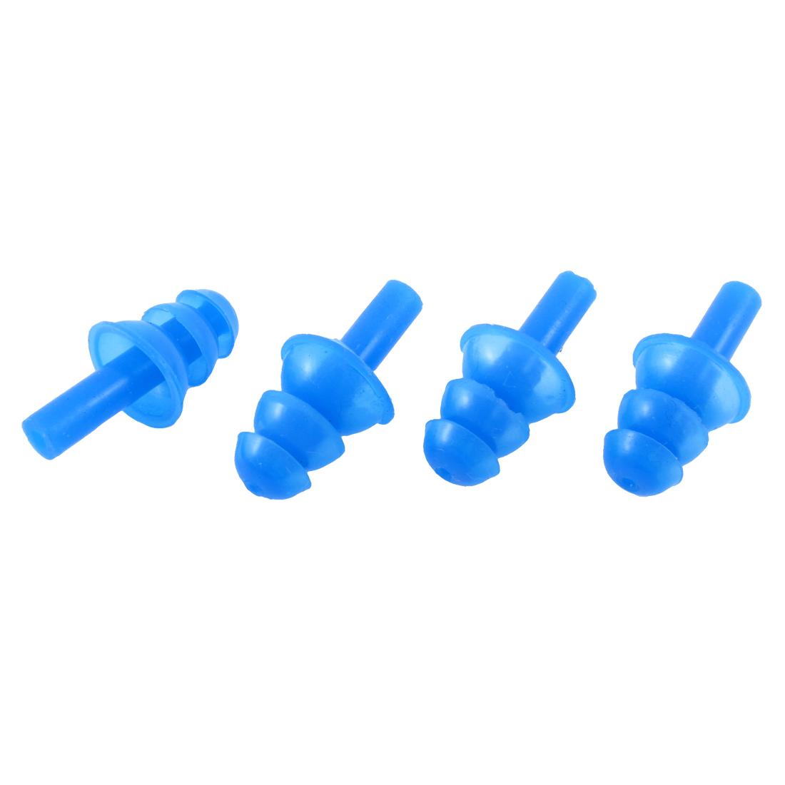 2 Pairs Blue Silicone Water Sports Swim Hearing Protection Earplugs Earplug