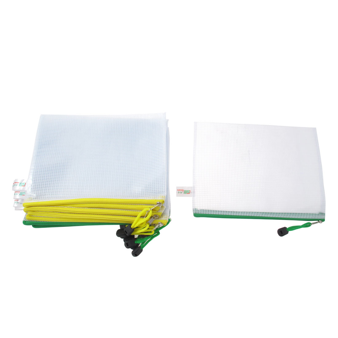 Office School Stationery Holder A5 Paper Document Files Bags Tricolor 12pcs