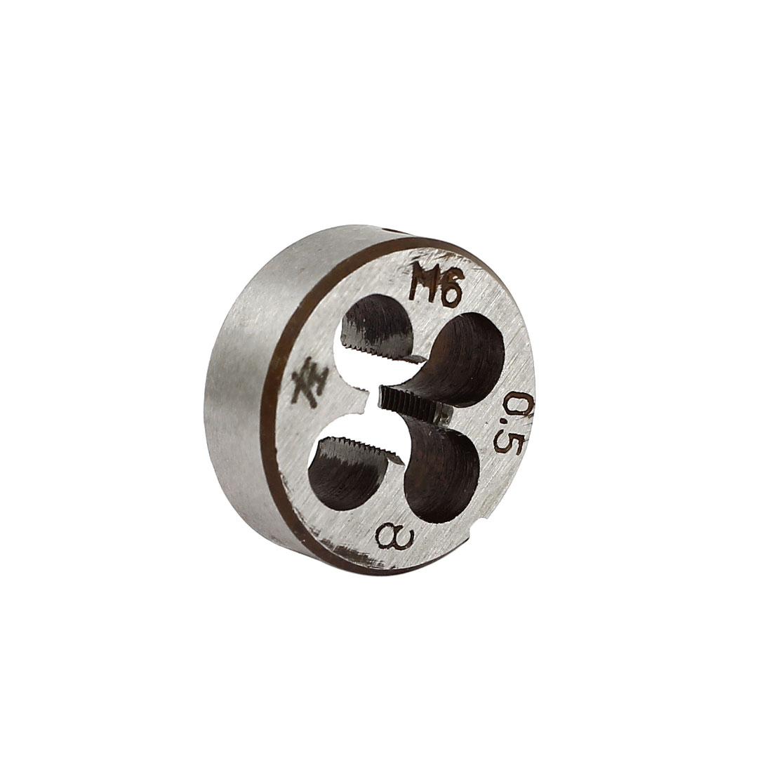 M6 x 0.5mm Metric 20mm OD Dia Steel Round Threading Die Thread Cutting Tool