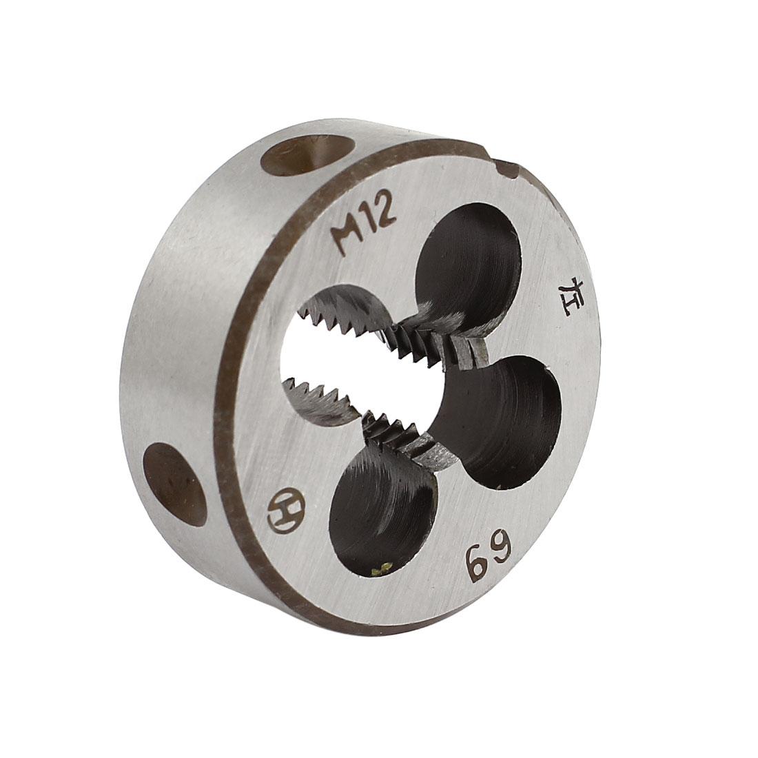M12 Metric Screw 38mm OD Dia Steel Round Threading Die Thread Cutting Tool
