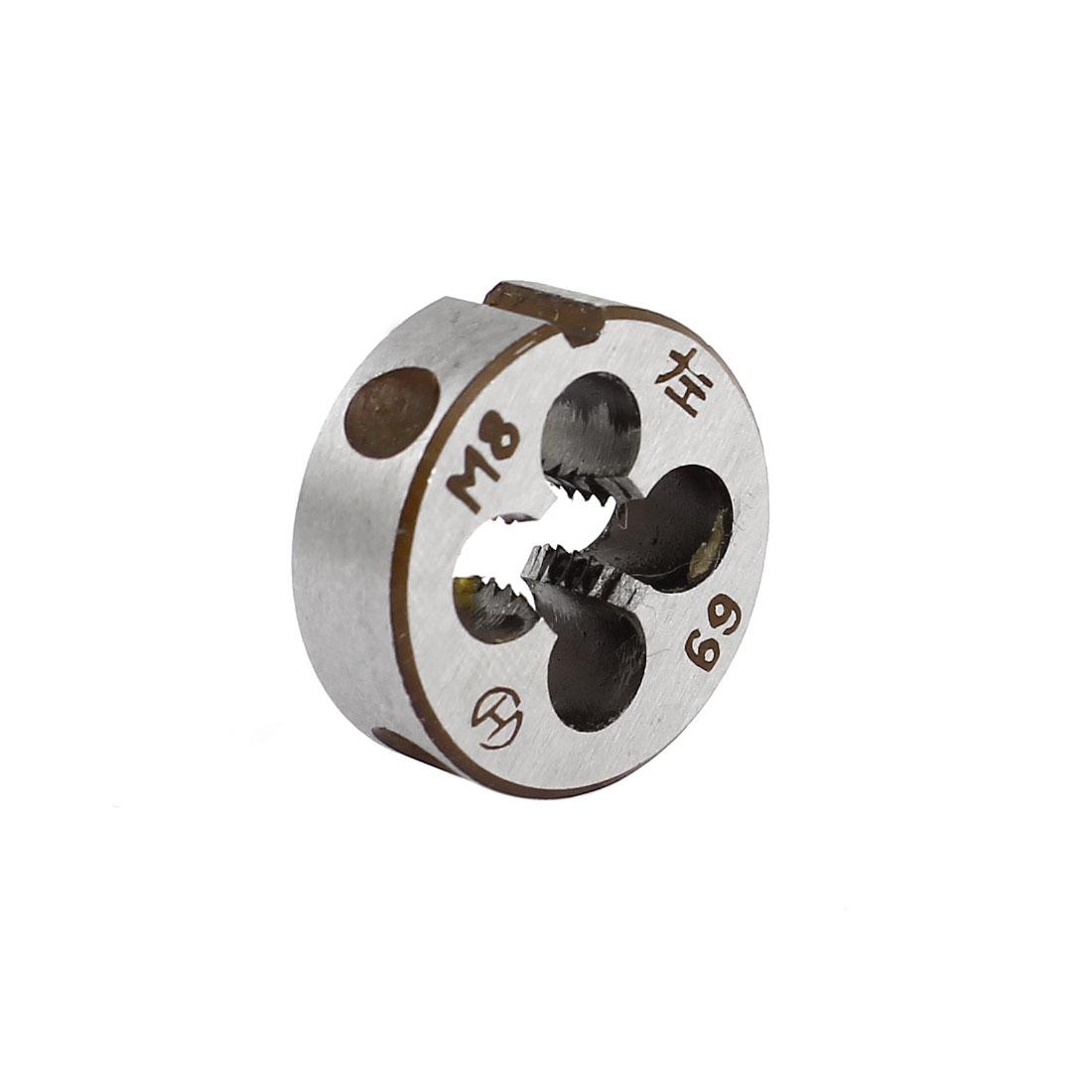 "M8 x 1.25mm Metric Screw 1"" OD Dia Steel Round Threading Die Thread Cutting Tool"