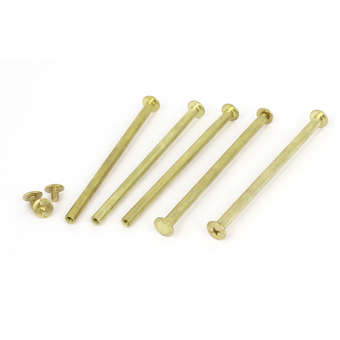 Brass Plated 5x90mm Binding Chicago Screw Post 5pcs for Leather Scrapbook