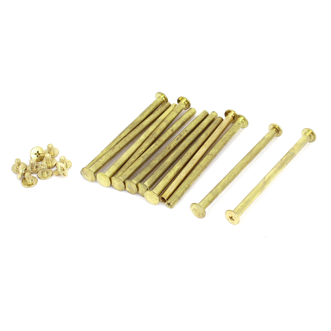 Brass Plated 5x80mm Binding Chicago Screw Post 12pcs for Leather Scrapbook