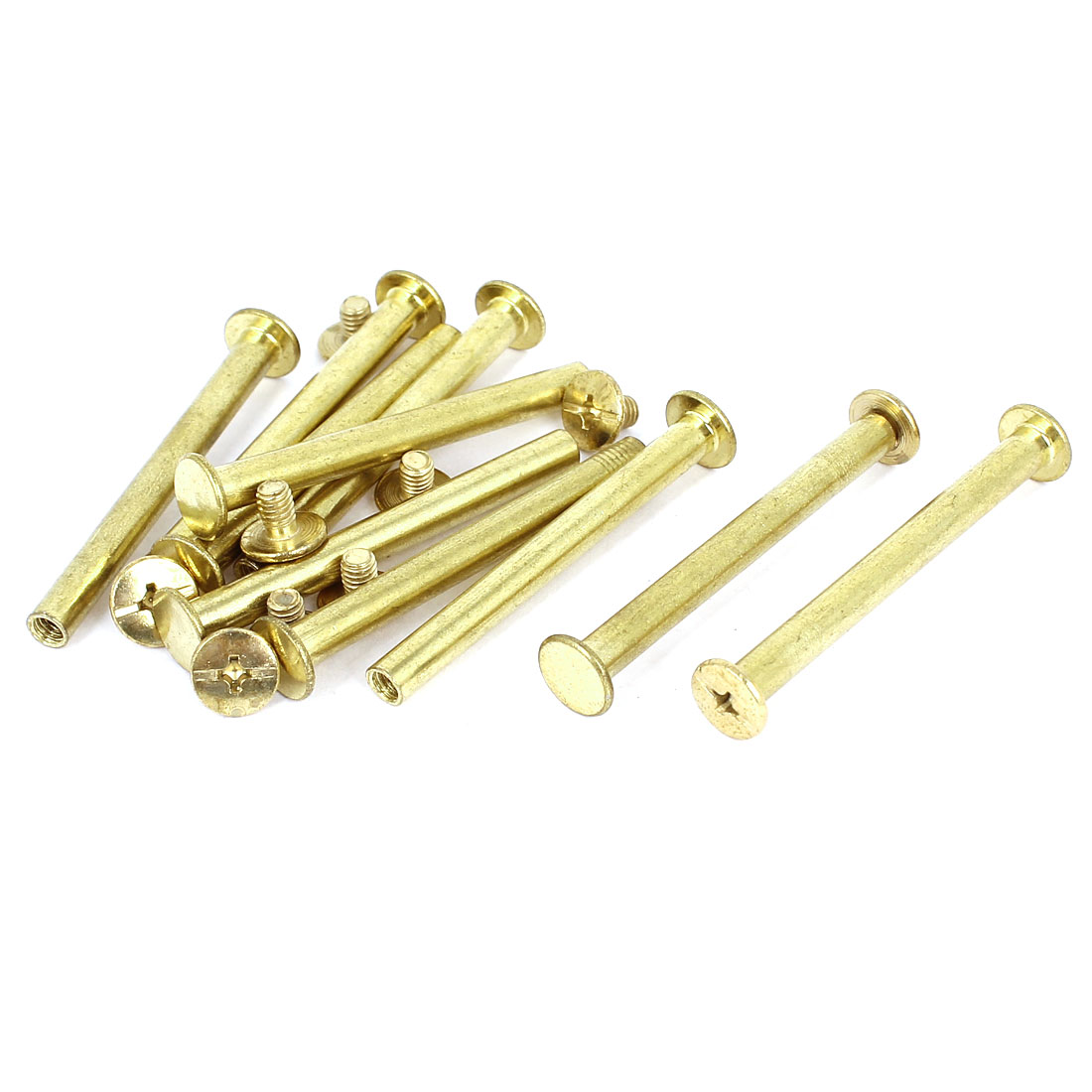 Brass Plated 5x50mm Binding Chicago Screw Post 10pcs for Leather Scrapbook