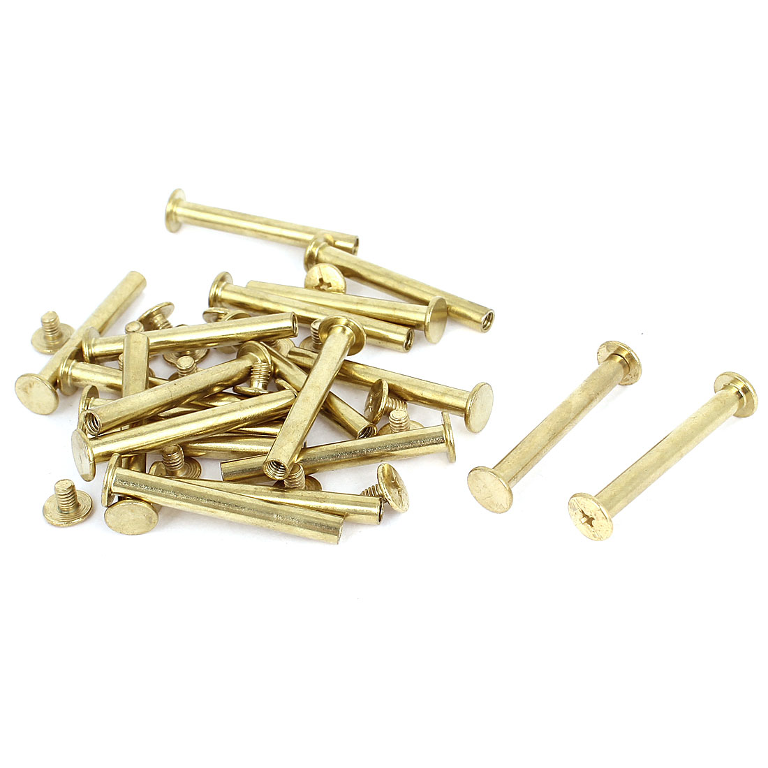 Brass Plated 5x40mm Binding Chicago Screw Post 20pcs for Leather Scrapbook