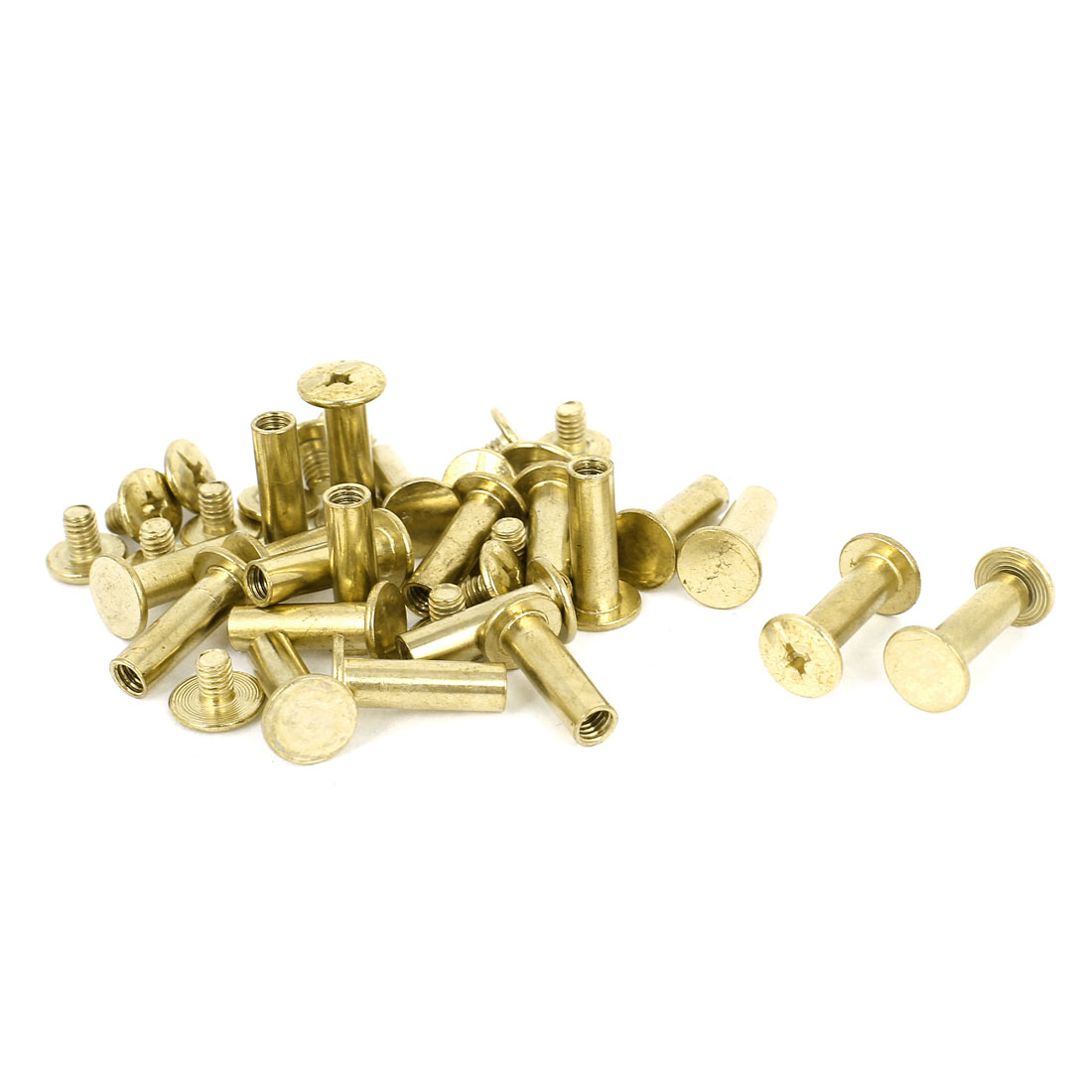 Brass Plated 5x15mm Binding Chicago Screw Post 20pcs for Leather Scrapbook