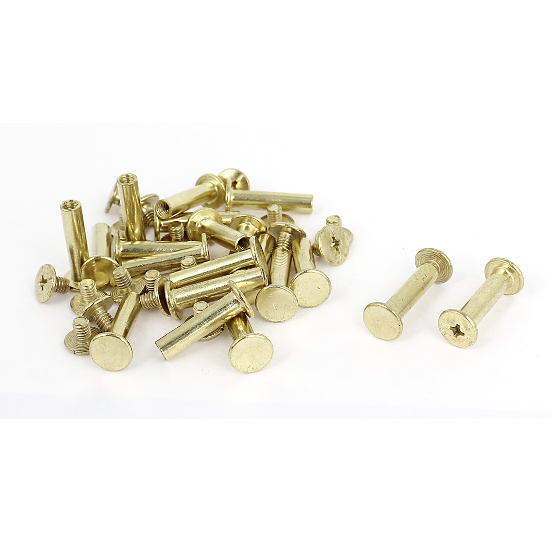 Brass Plated 5x20mm Binding Chicago Screw Post 20pcs for Leather Scrapbook