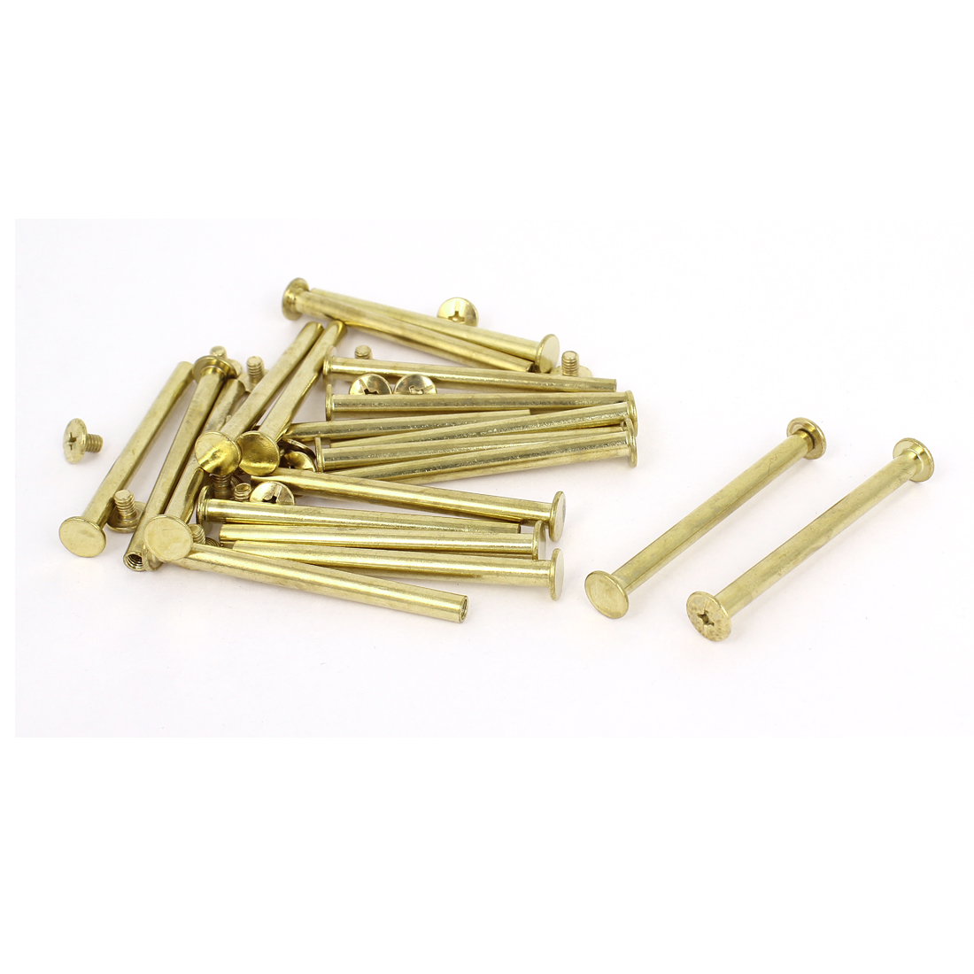 Brass Plated 5x60mm Binding Chicago Screw Post 20pcs for Leather Scrapbook