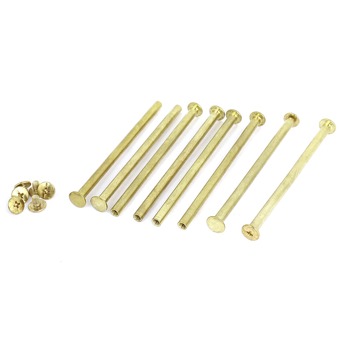 Brass Plated 5x90mm Binding Chicago Screw Post 8pcs for Leather Scrapbook