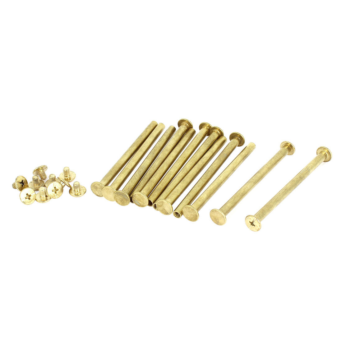 Brass Plated 5x70mm Binding Chicago Screw Post 12pcs for Leather Scrapbook