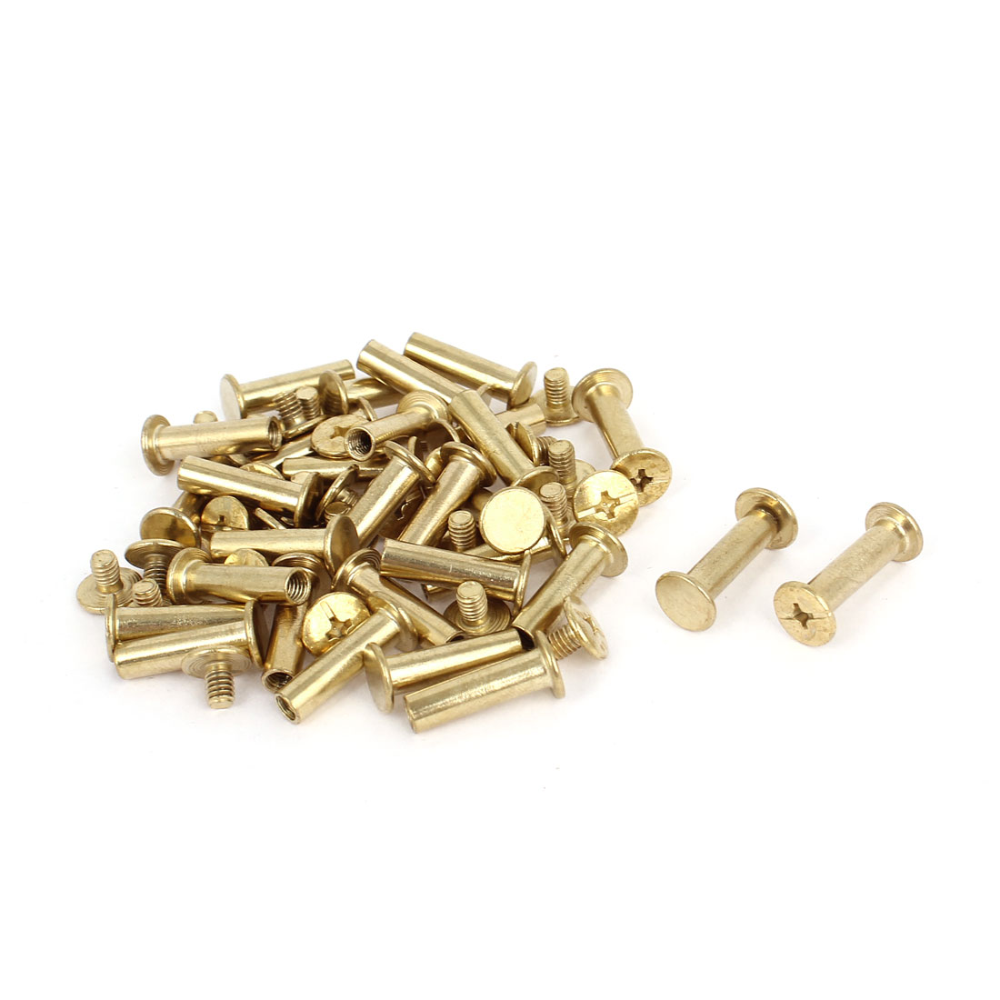 Brass Plated 5x18mm Binding Chicago Screw Post 30pcs for Leather Scrapbook