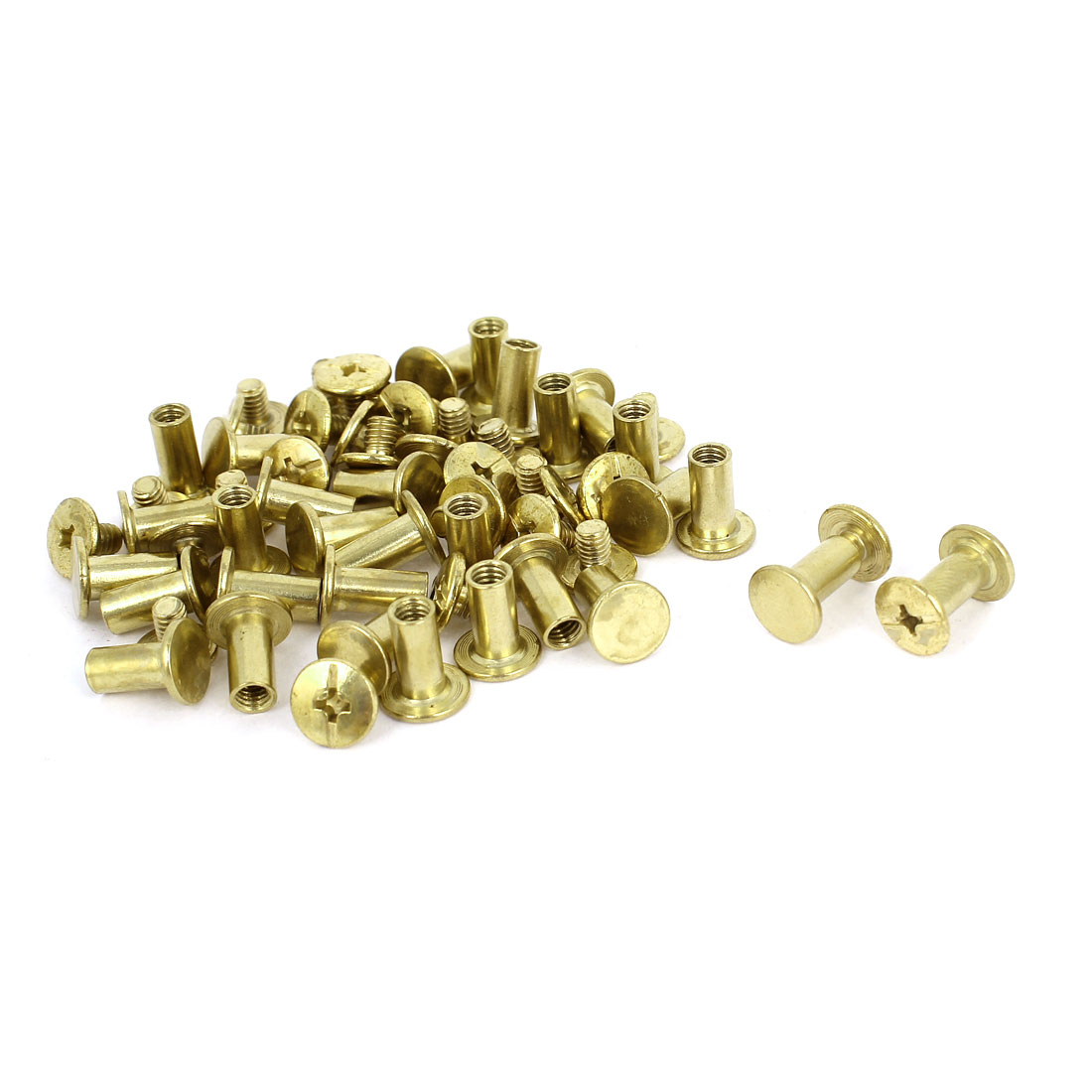 Brass Plated 5x10mm Binding Chicago Screw Post 30pcs for Album Leather