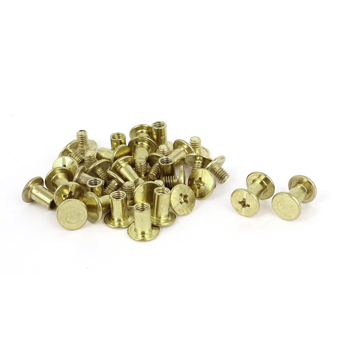 Brass Plated 5x8mm Binding Chicago Screw Post 20pcs for Album Leather Purse
