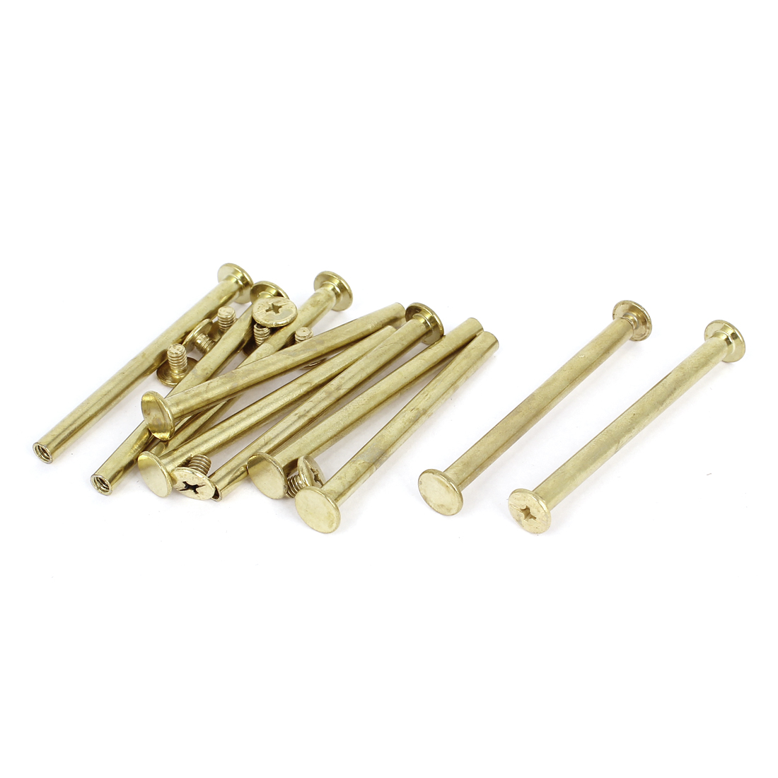 Brass Plated 5x60mm Binding Chicago Screw Post 10pcs for Leather Scrapbook