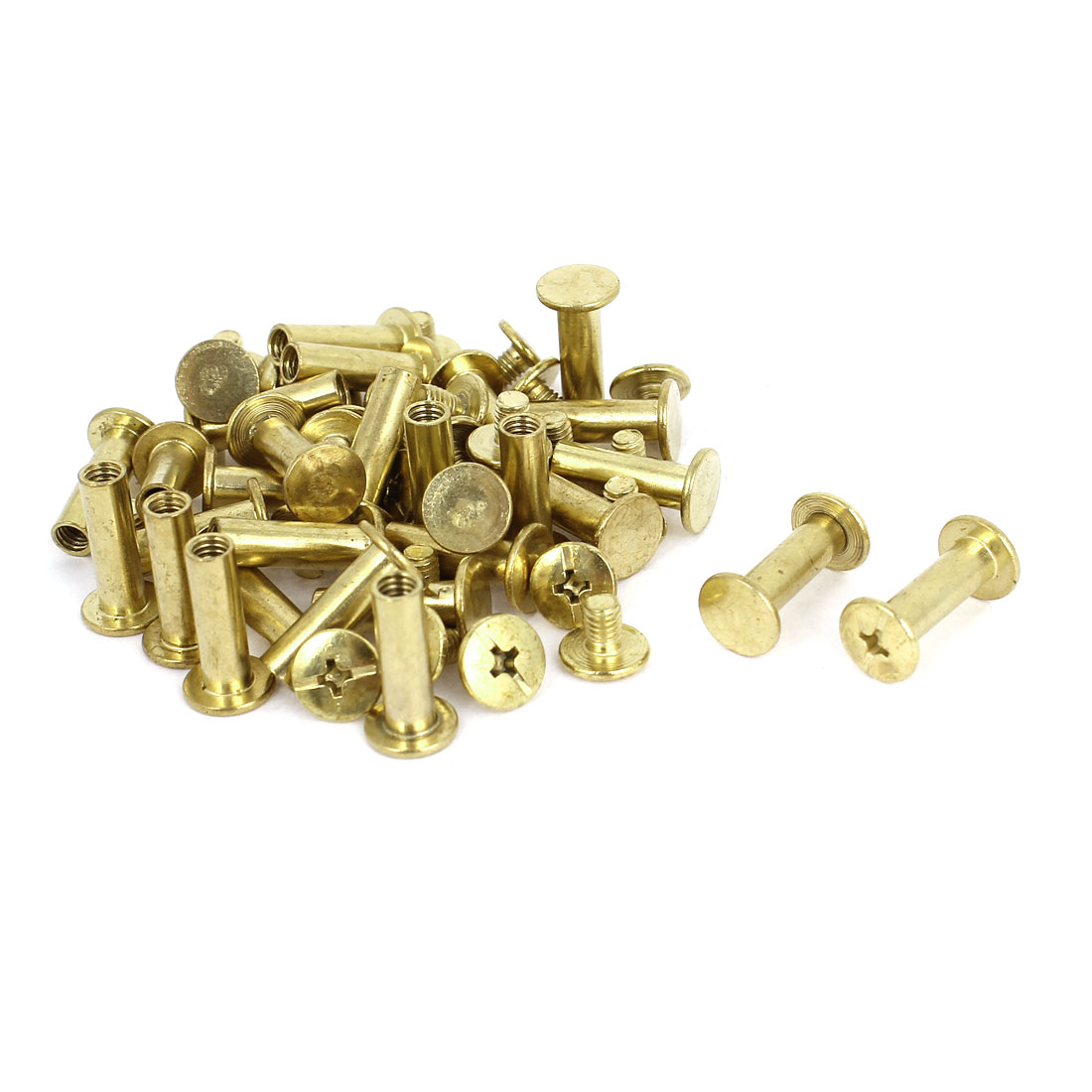 Brass Plated 5x15mm Binding Chicago Screw Post 30pcs for Leather Scrapbook