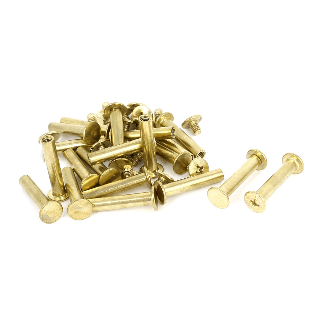 Brass Plated 5x25mm Binding Chicago Screw Post 20pcs for Leather Scrapbook
