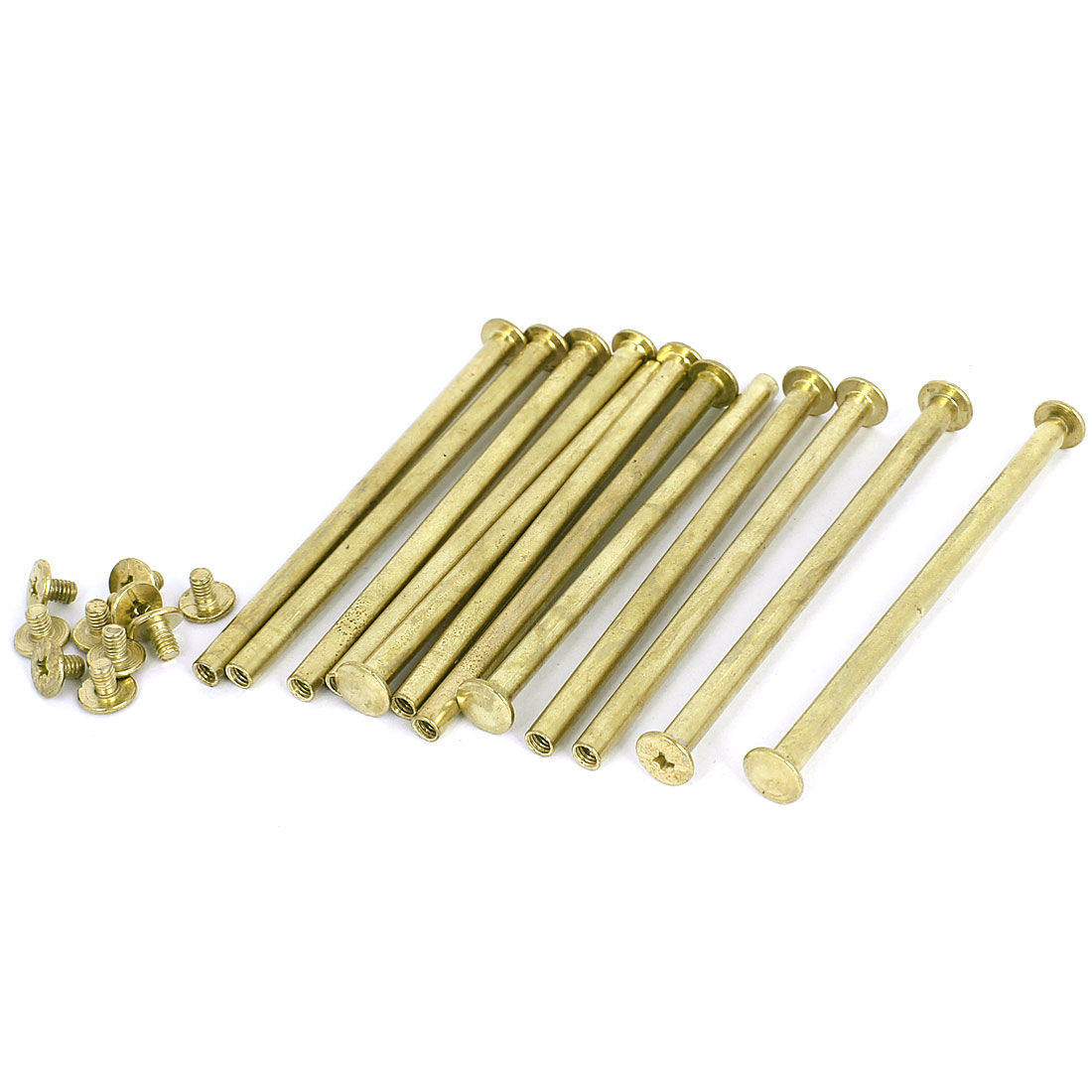 Brass Plated 5x90mm Binding Chicago Screw Post 12pcs for Leather Scrapbook