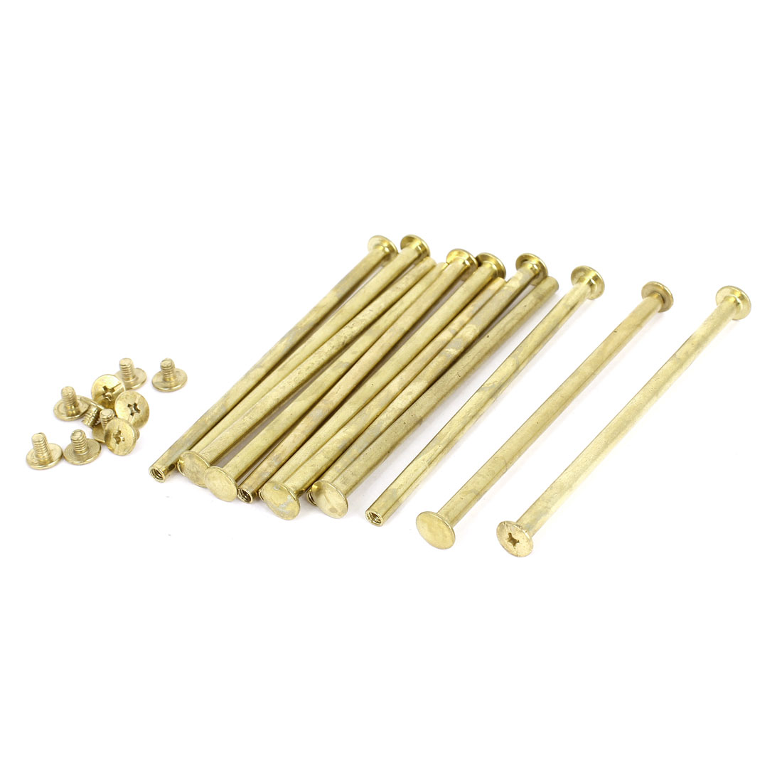 Brass Plated 5x100mm Binding Chicago Screw Post 12pcs for Albums Scrapbook