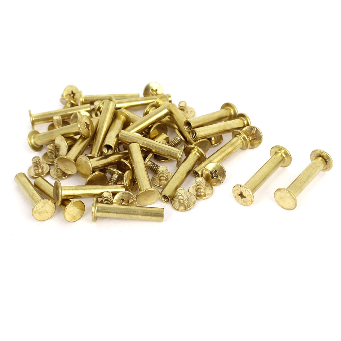 Brass Plated 5x25mm Binding Chicago Screw Post 30pcs for Leather Scrapbook