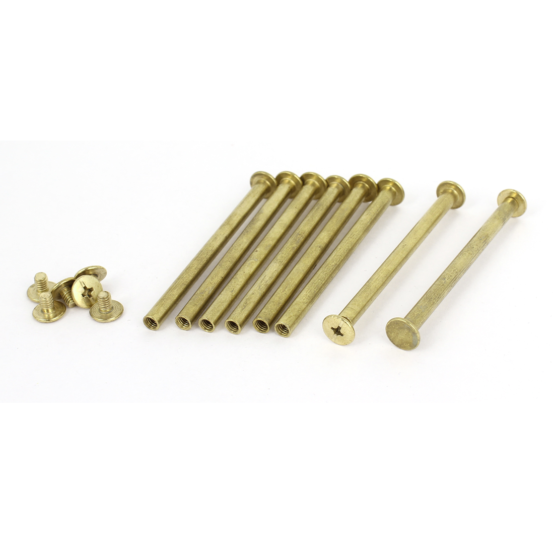 Brass Plated 5x70mm Binding Chicago Screw Post 8pcs for Leather Scrapbook