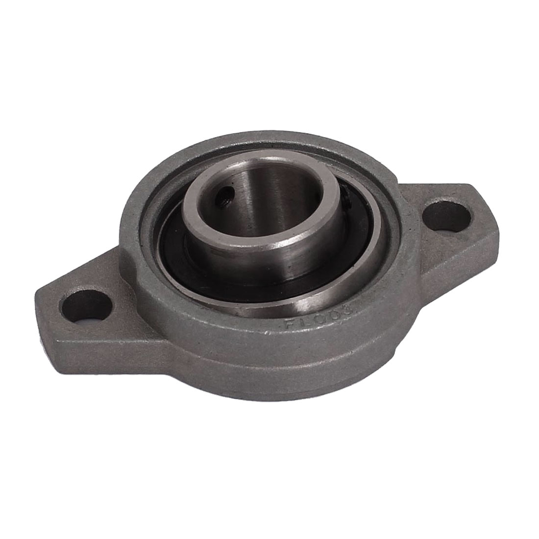 KFL003 17mm Bore Aluminum Alloy Self-aligning Flange Bearing Oval Pillow Block