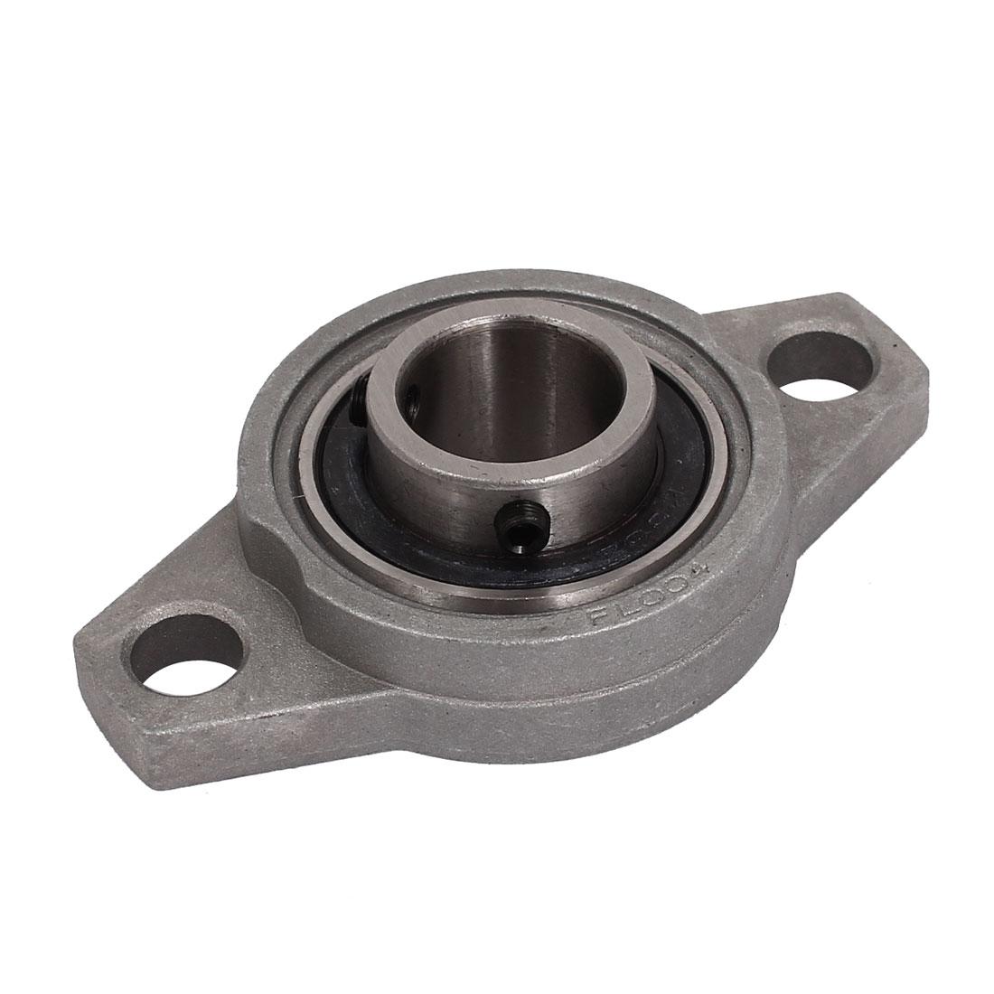 KFL004 20mm Bore Aluminum Alloy Self-aligning Flange Bearing Oval Pillow Block
