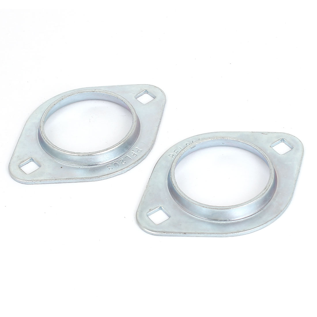 SBPFL203 Pressed Steel Flange Bearing Holder Housing Oval Pillow Block 2pcs