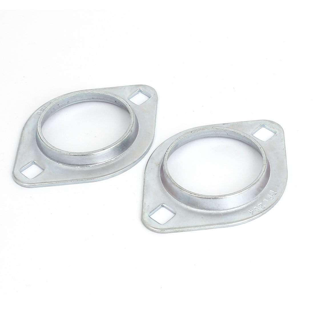 SBPFL204 Pressed Steel Flange Bearing Holder Housing Oval Pillow Block 2pcs