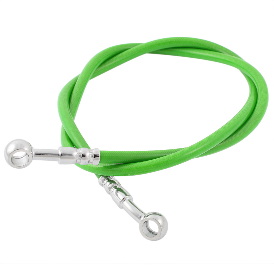 Motorcycle 100cm Length Rubber Stainless Steel Brake Line Green