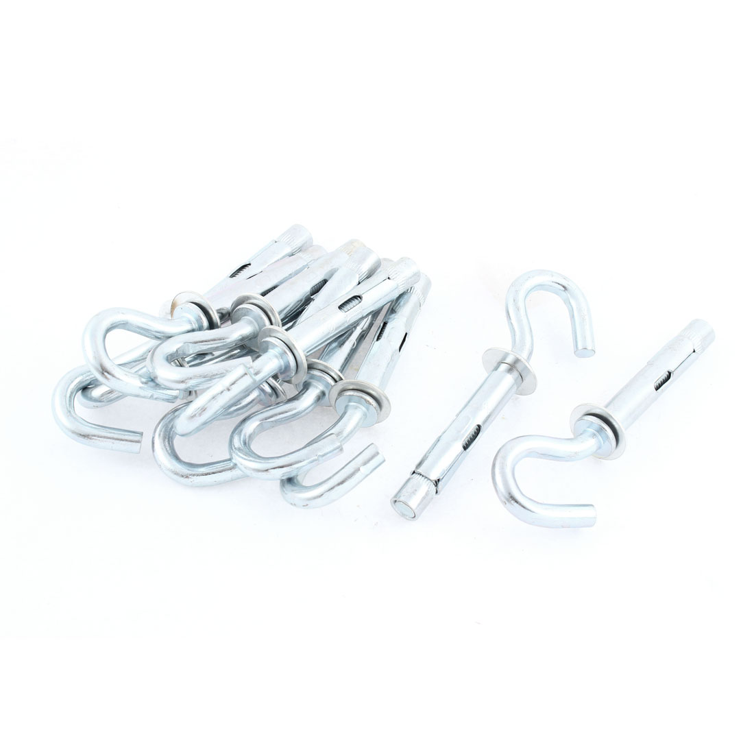 10 Pcs Motorcycle Silver Tone Metal Hanger Hook Shopping Bag Holder 8mm