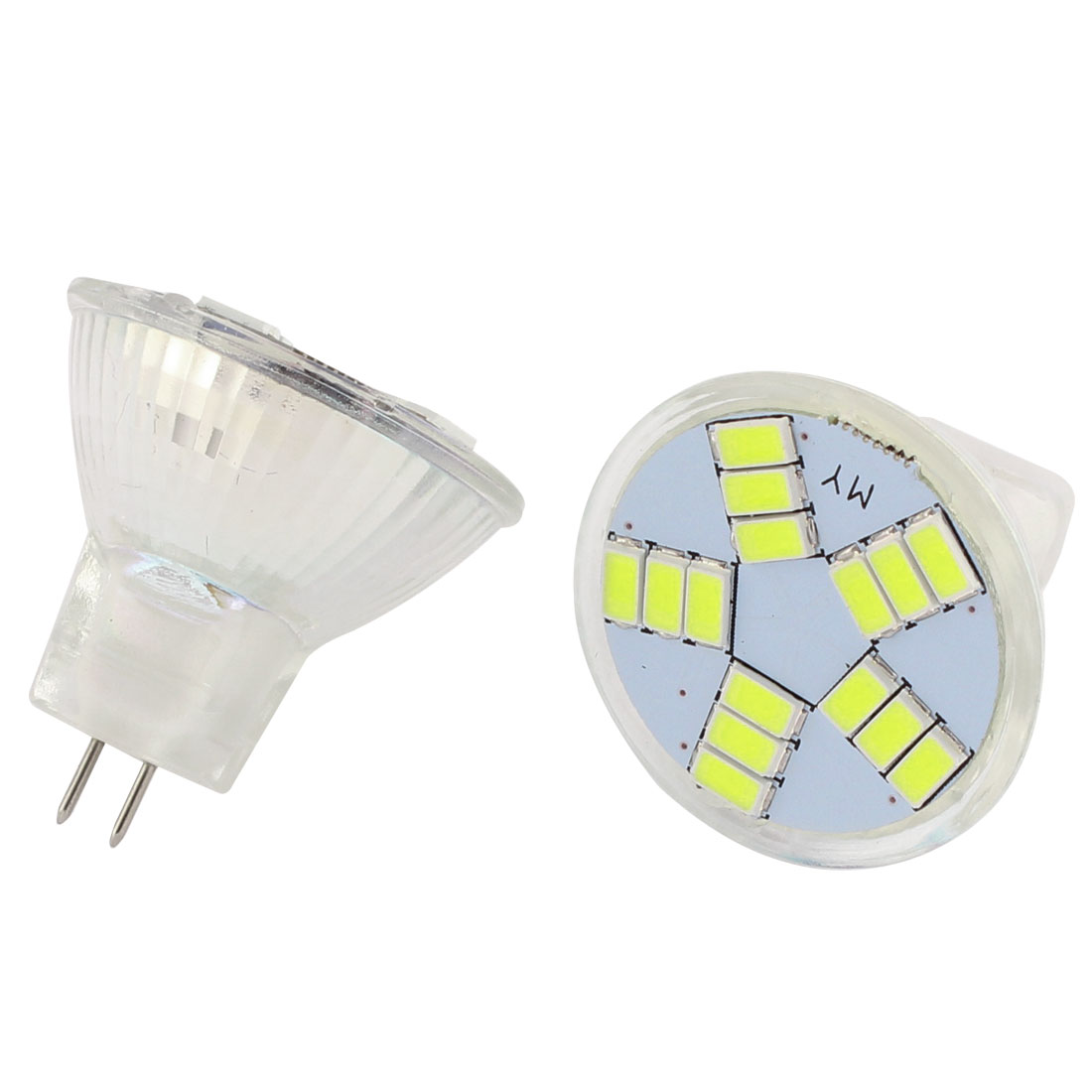 2 Pcs Car G4 Round White 5630 SMD 15 LED Bulb Internal