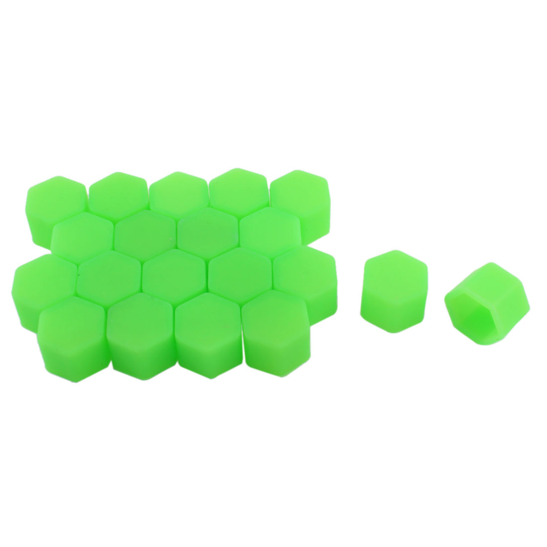 20 Pcs Green Silicone Car Wheel Lugs Nuts Bolts Covers Hub Tyres Screw Dust Caps