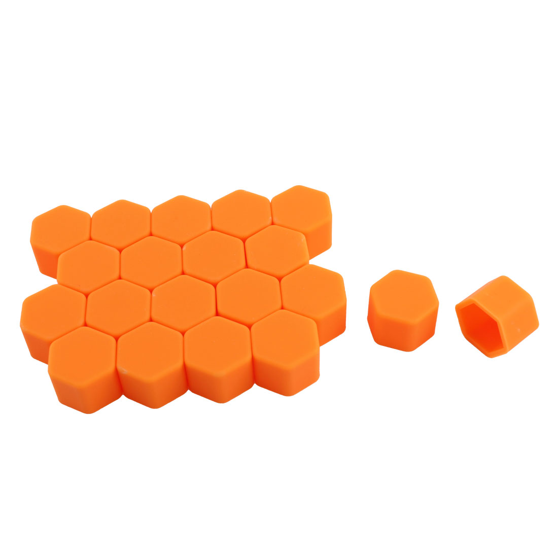 20 Pcs Orange Silicone Car Wheel Lugs Nuts Bolts Covers Hub Tyres Screw Dust Caps