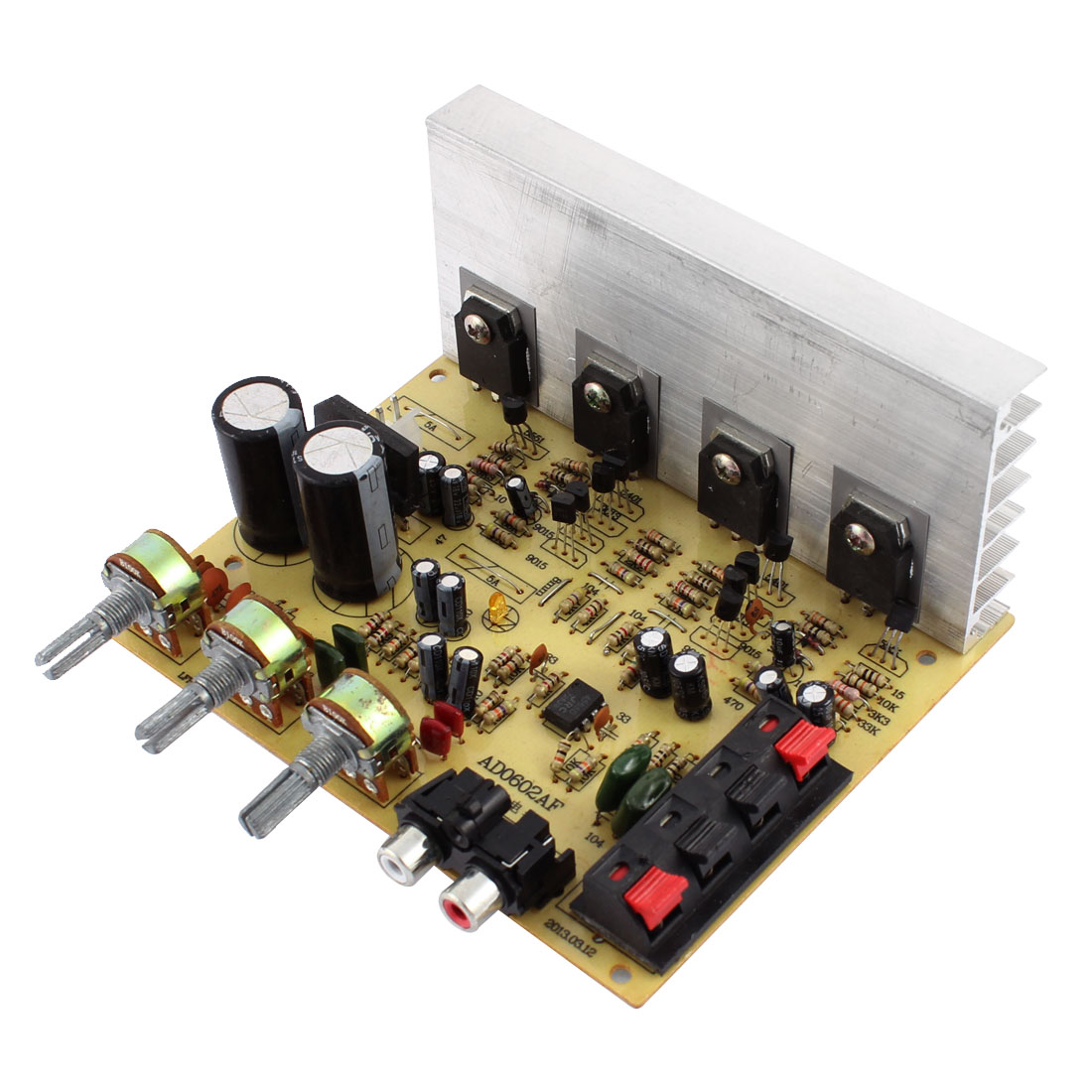 AC 12V 60W+60W LFE Subwoofer Audio Hi-Fi 2 Channel Car Stereo Power Amplifier Board AD0602