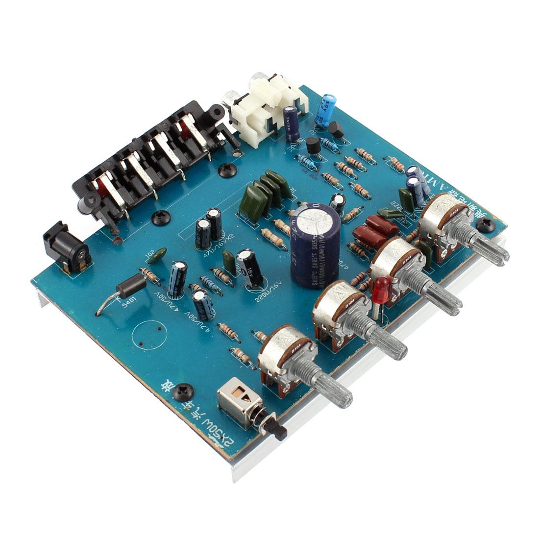 DC 12V 50W LFE Subwoofer Audio Hi-Fi 2 Channel Car Boat Stereo Power Amplifier Board