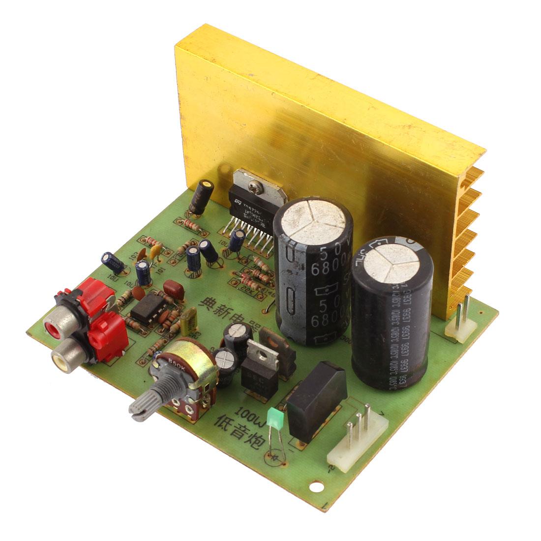DC 12V 100W LFE Subwoofer Audio Hi-Fi 2 Channel Car Boat Stereo Power Amplifier