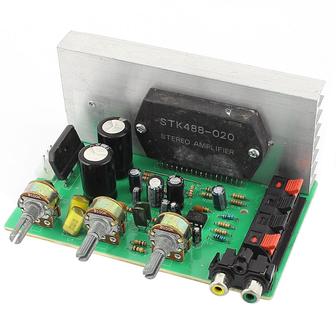 DC 15V-24V 100W LFE Hi-Fi 2 Channel Audio Stereo Power Amplifier Board AM0408 for Car