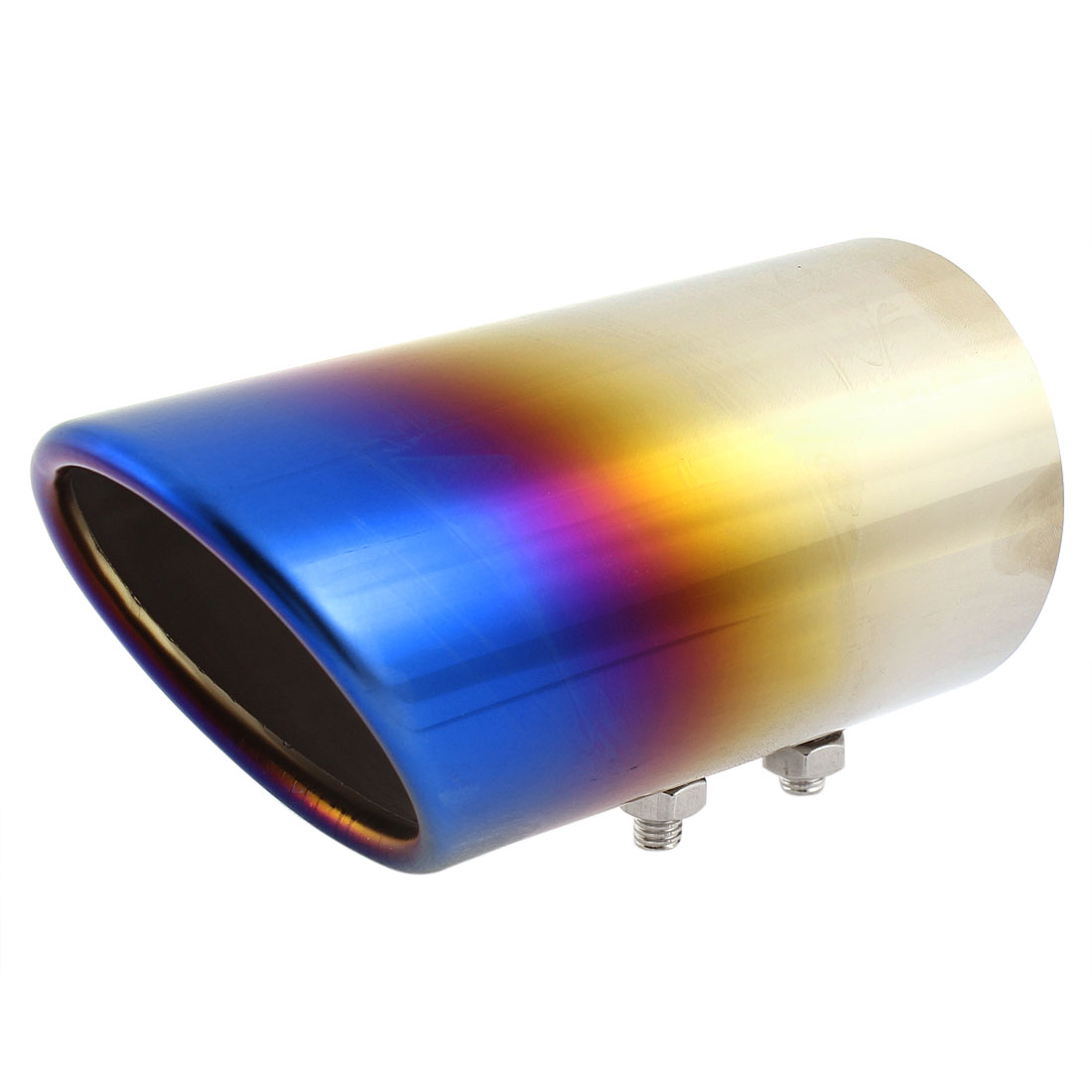 Sliver Tone Blue Stainless Steel Exhaust Pipe Tip Muffler for NEW SAGITAR