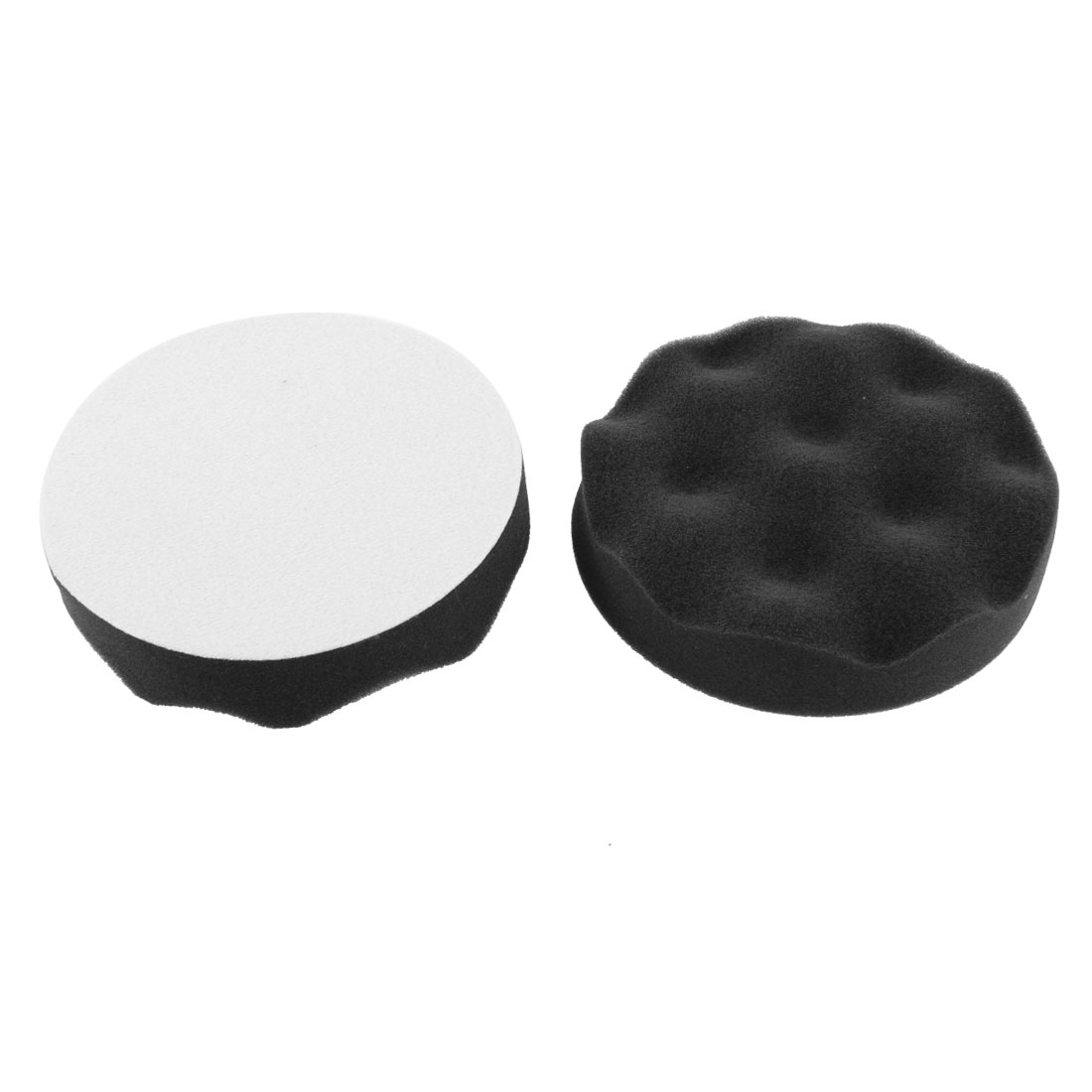 "2pcs Black Wave Waxing Polishing Sponge Cleaning Pads 5"" Diameter for Car Truck"
