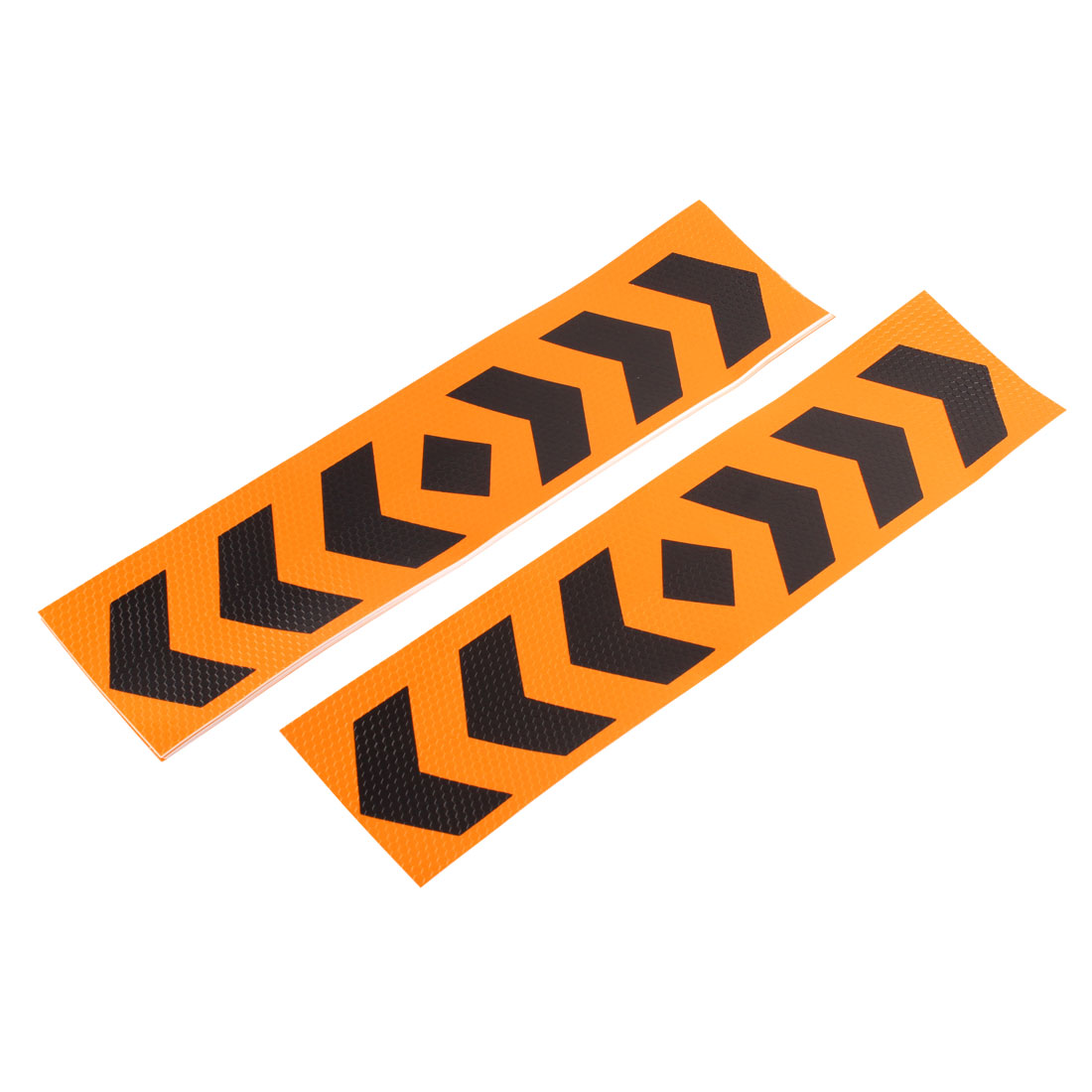 10 Pcs Car Auto Reflective Arrow Print Sticker Orange Black 40cm x 10cm