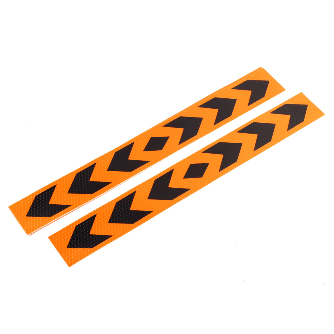 10 Pcs 40cm x 5cm Orange Black Self Adhesive Reflective Sticker Decal for Car