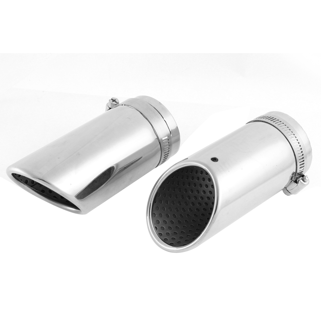 2 x 55mm Inlet Dia Stainless Steel Exhaust Pipe Tail Muffler Tip for Benz C180K