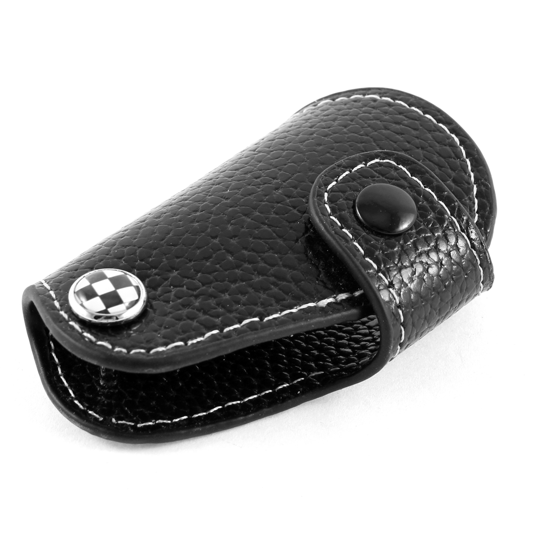 Black Faux Leather Car Key Remote Control Carry Bag for BMW Mini Cooper
