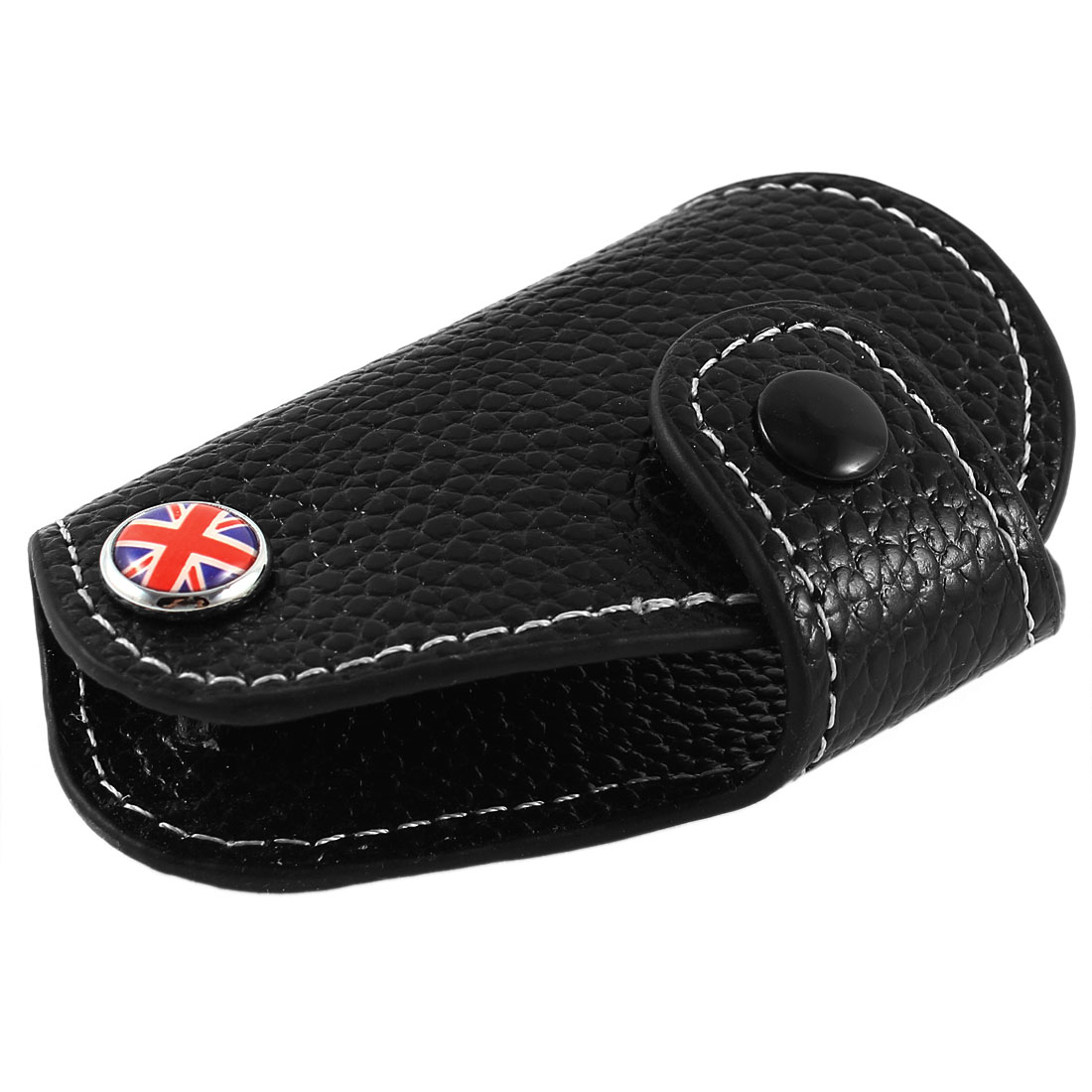 Union Jack Flag Pattern Black Car Key Remote Control Carry Bag for BMW Mini Cooper