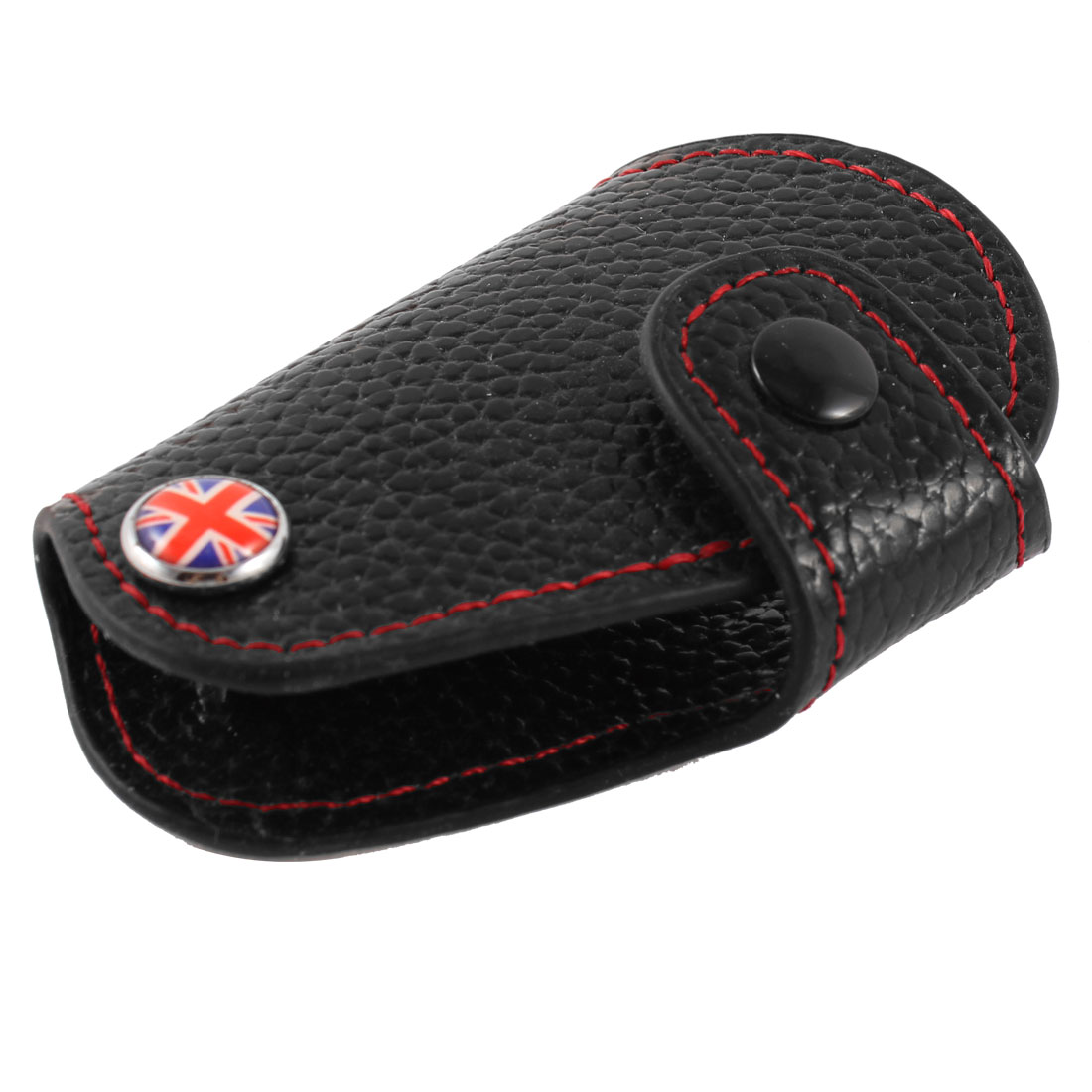 Union Flag Print Faux Leather Car Key Remote Control Carry Bag for BMW Mini Cooper