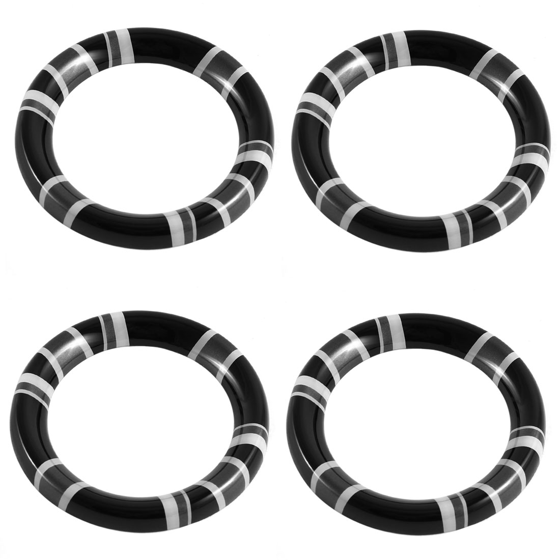 4pcs Black Gray Plastic Adhesive Car Door Handle Cover Ring for BMW Mini R60