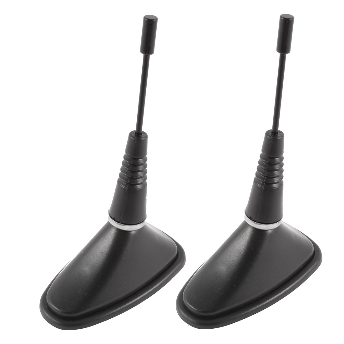 2 Pcs Black Plastic Top Mount Roof Dummy Antenna Aerial for Car Auto